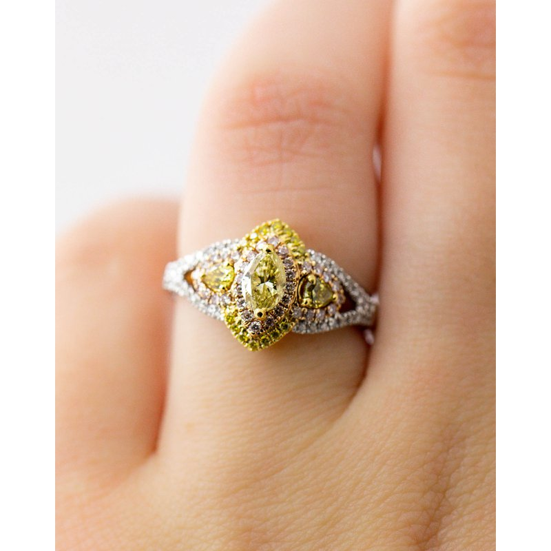 Jewelry Couture Exclusives Marquise Statement Multi-Tone Ring