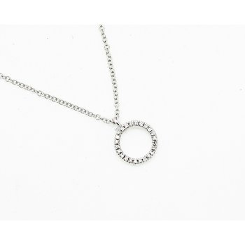 Eternity Ring Diamond Necklace