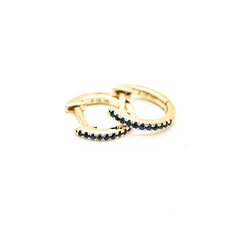 Jewelry Couture Exclusives Micro Pave Sapphire Huggie Hoops