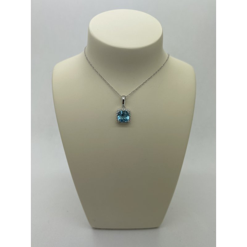 Jewelry Couture Exclusives Blue Topaz Pendant Necklace