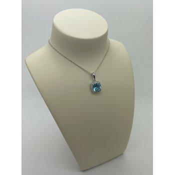 Blue Topaz Pendant Necklace