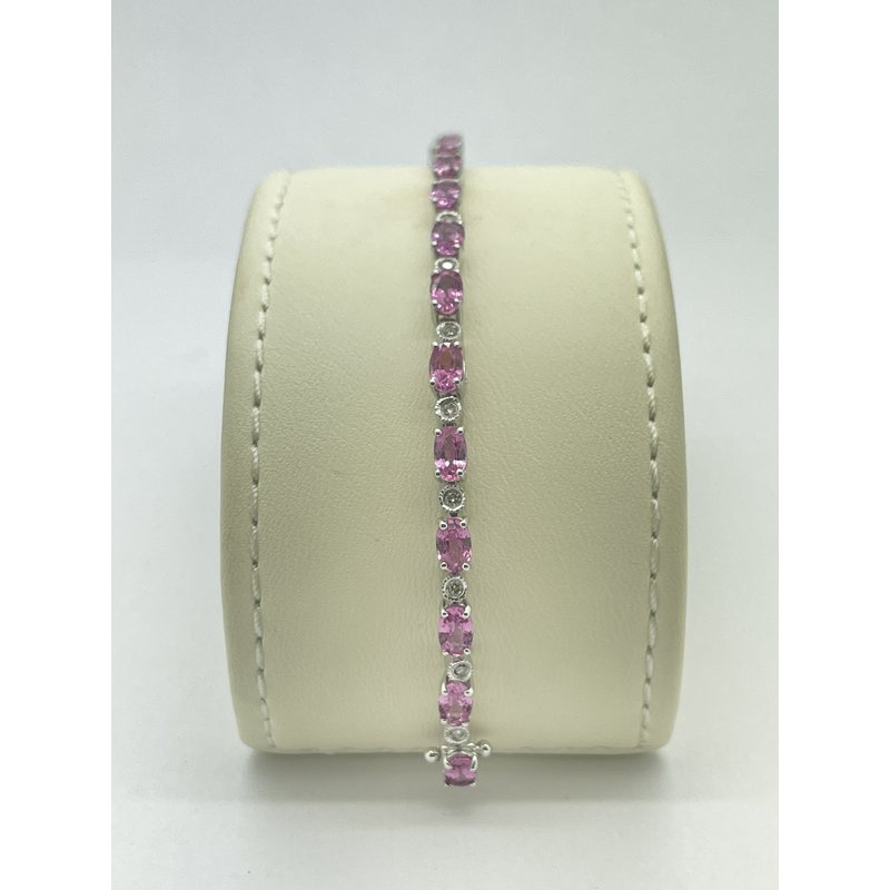Jewelry Couture Exclusives Pink Sapphire and Diamond Tennis Bracelet
