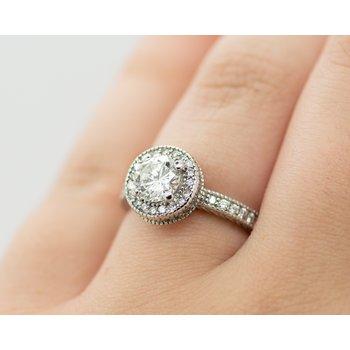 0.85ct Diamond Engagement Ring
