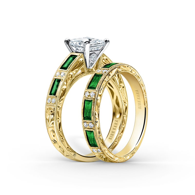Tsavorite Garnet Diamond Wedding Band