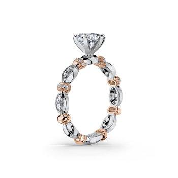 Designer Bar Solitare Engagement Ring