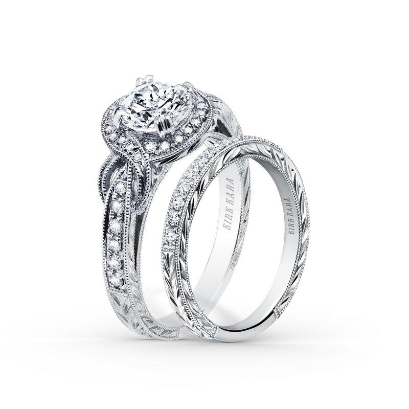 Joyful Twist Halo Diamond Engagement Ring