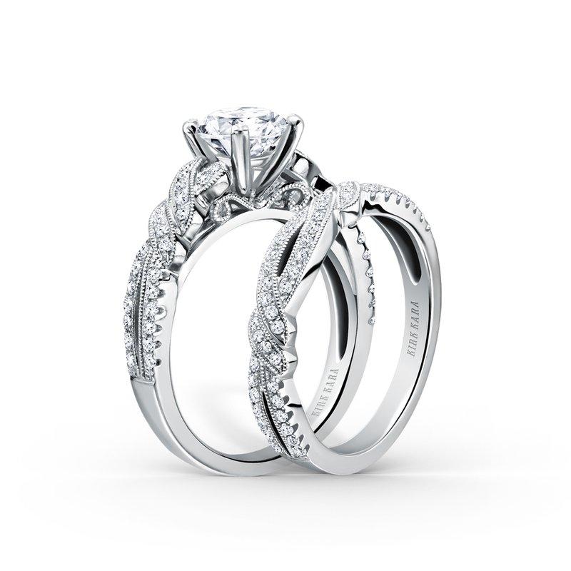 Twist Filigree Diamond Engagement Ring