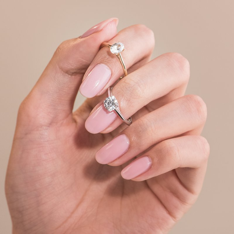 Classic Filigree Diamond Engagement Ring
