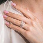 Paisley Swirl Diamond Engagement Ring