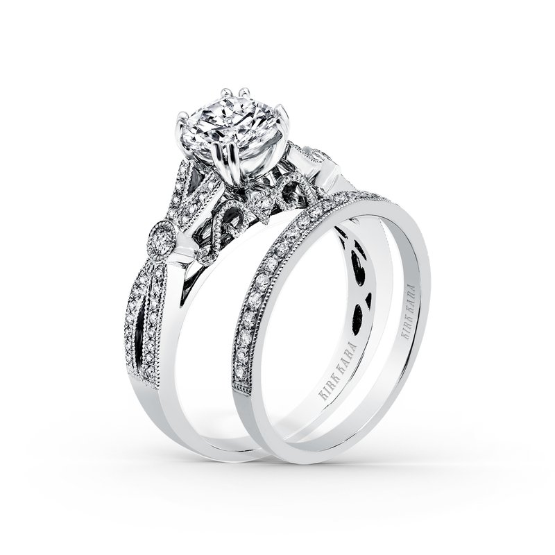 Filigree Milgrain Diamond Engagement Ring