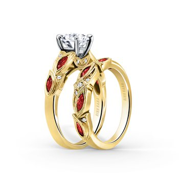 Ruby Designer Diamond Wedding Band