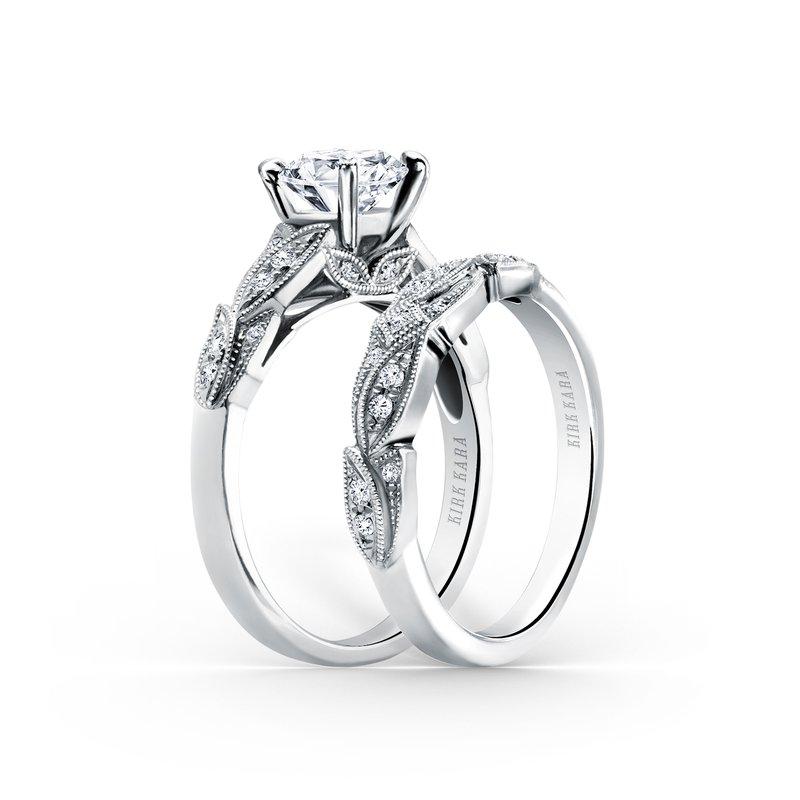 Diamond Leaves Engagement Ring