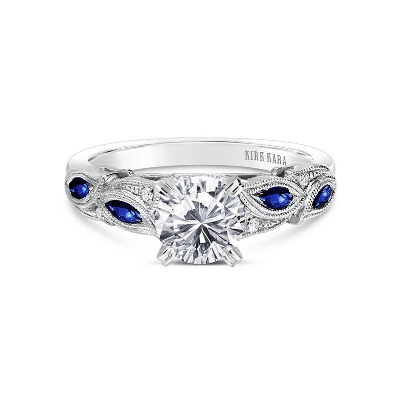 Blue Sapphire Natural Diamond Engagement Ring