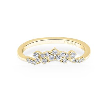 Crown Boho Diamond Wedding Band