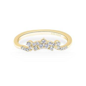 Crown Boho Diamond Wedding Band