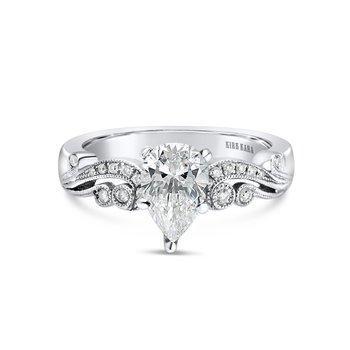 Milgrain Pear Diamond Milgrain Engagement Ring