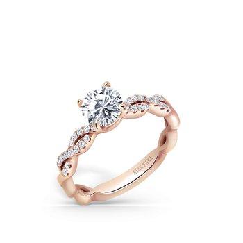 Swirl Diamond Engagement Ring