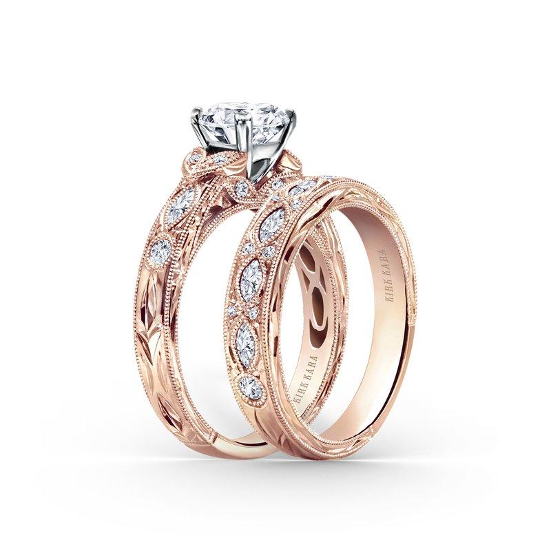 Marquise Leaf Diamond Engagement Ring