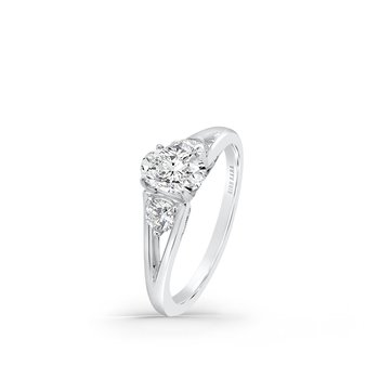 Split Shank Three Stone Diamond Engagement Ring