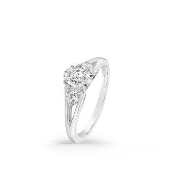 Split Shank Three Stone Diamond Engagement Ring
