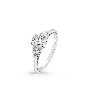 Three Stone Boho Diamond Engagement Ring