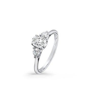 Three Stone Boho Diamond Engagement Ring
