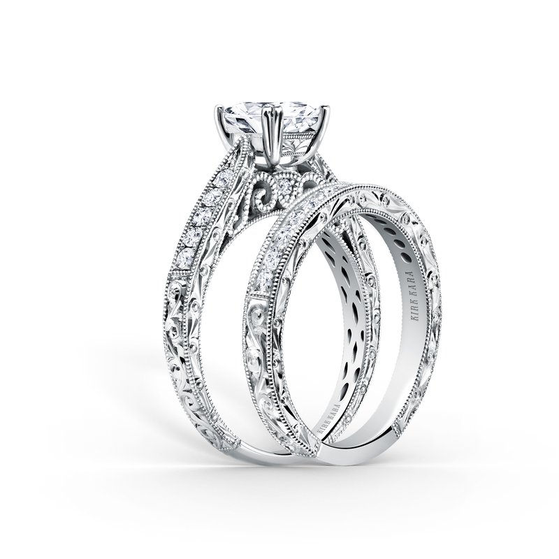 Filigree Solitare Diamond Engagement Ring