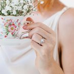 Floral Delicate Diamond Engagement Ring
