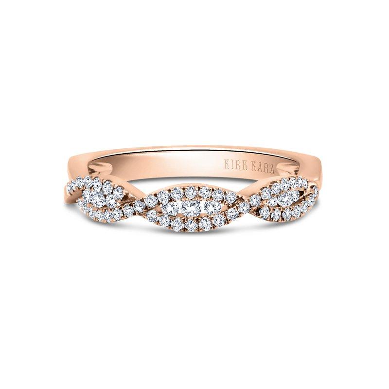 Ribbon Swirls Diamond Wedding Band
