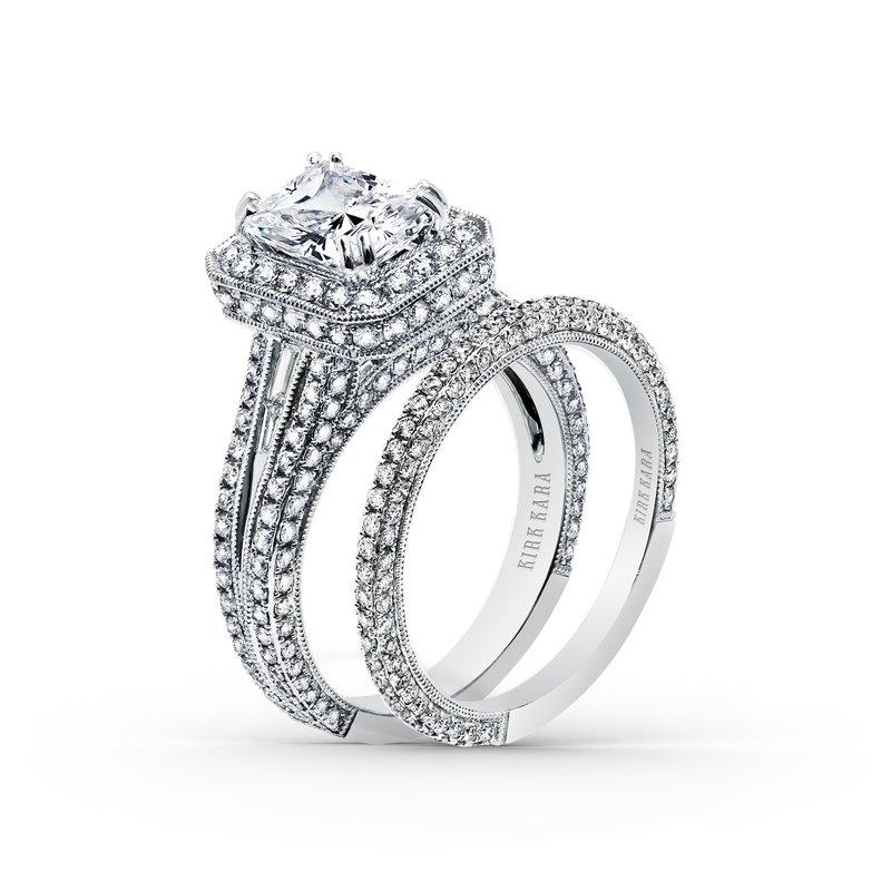 Extraordinary Radiant Halo Engagement Ring