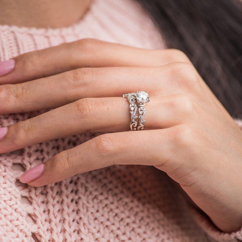 Poetic Solitare Diamond Engagement Ring