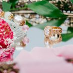Pave Swirl Diamond Braided Engagement Ring