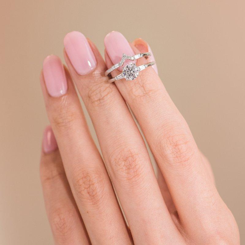 Three Stone Baguette Diamond Engagement Ring