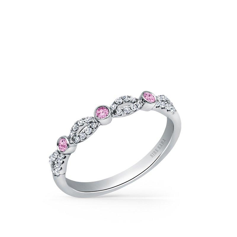 Kirk Kara 14K Pink Sapphire Diamond Wedding Band