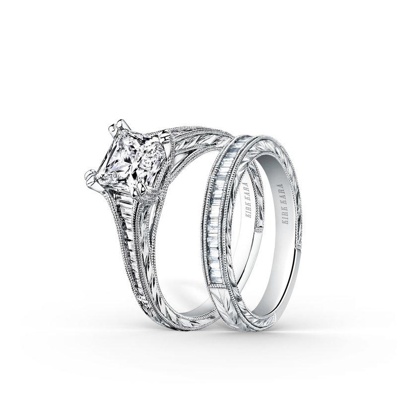 Channel Set Baguette Princess Diamond Engagement Ring