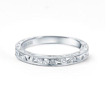 Engraved Milgrain Timeless Wedding Band