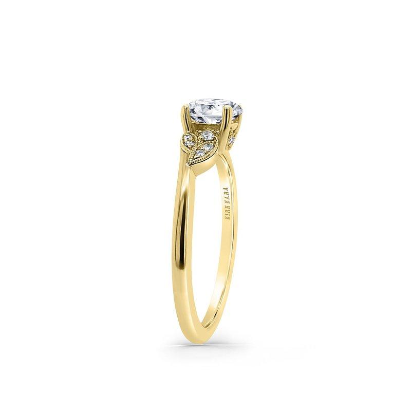 Petite Floral Diamond Engagement Ring