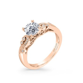 Romantic Swirl Diamond Solitaire Engagement Ring