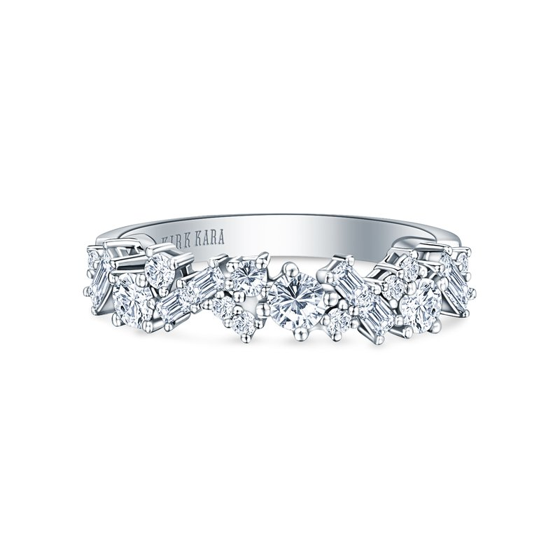 Baguette Diamond Cluster Modern Wedding Band