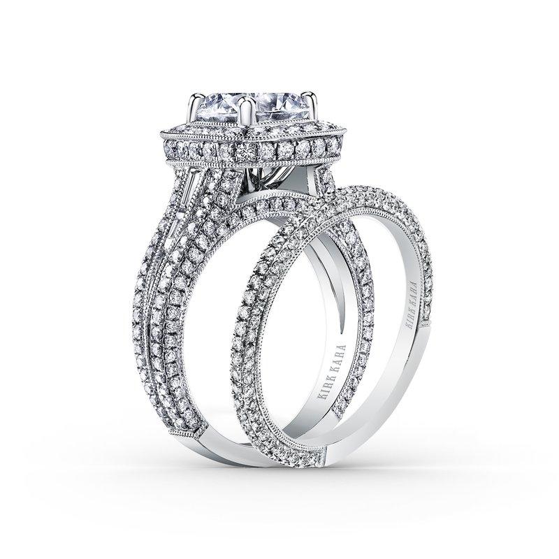 Elegant Milgrain Pave Diamond Wedding Band
