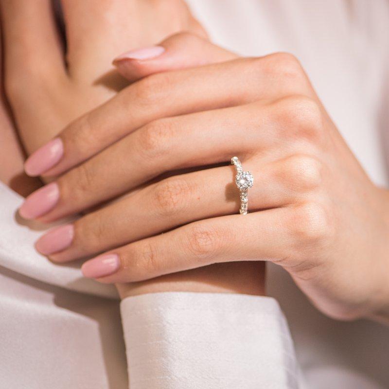 Milgrain Vintage Diamond Engagement Ring