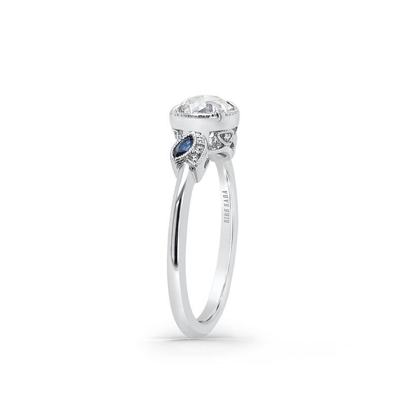 Rose Cut Diamond Sapphire Engagement Ring