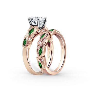 Tsavorite Garnet Diamond Engagement Ring