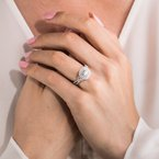 Romantic Bows Halo Diamond Engagement Ring