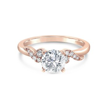Milgrain Round Diamond Engagement Ring