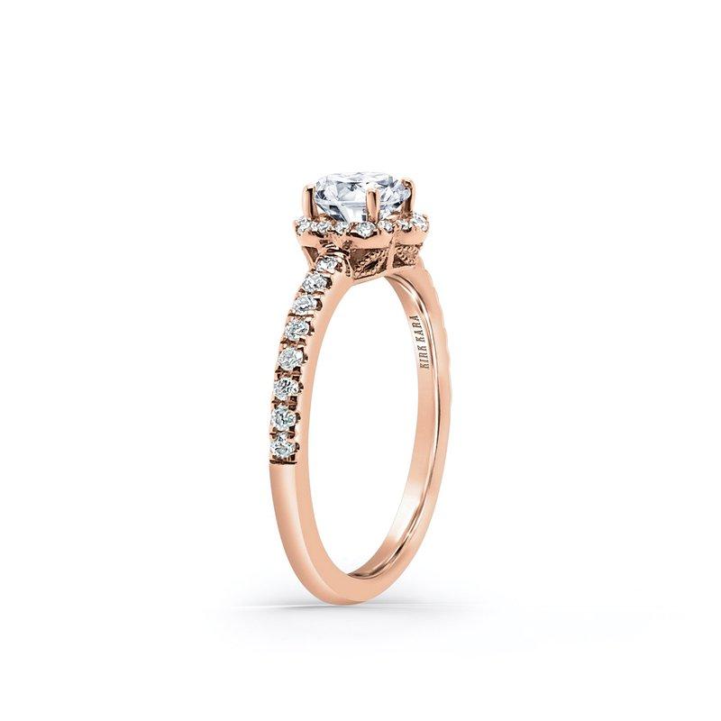 Halo Floral Diamond Shank Engagement Ring