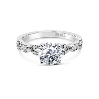 Refined Deco Diamond Engagement Ring
