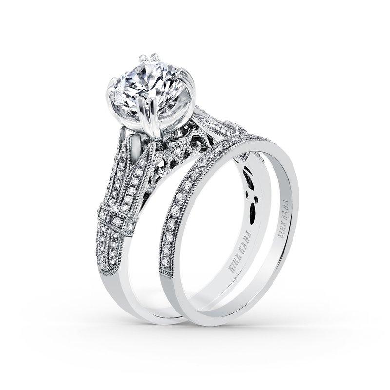 Filigree Vintage Diamond Engagement Ring