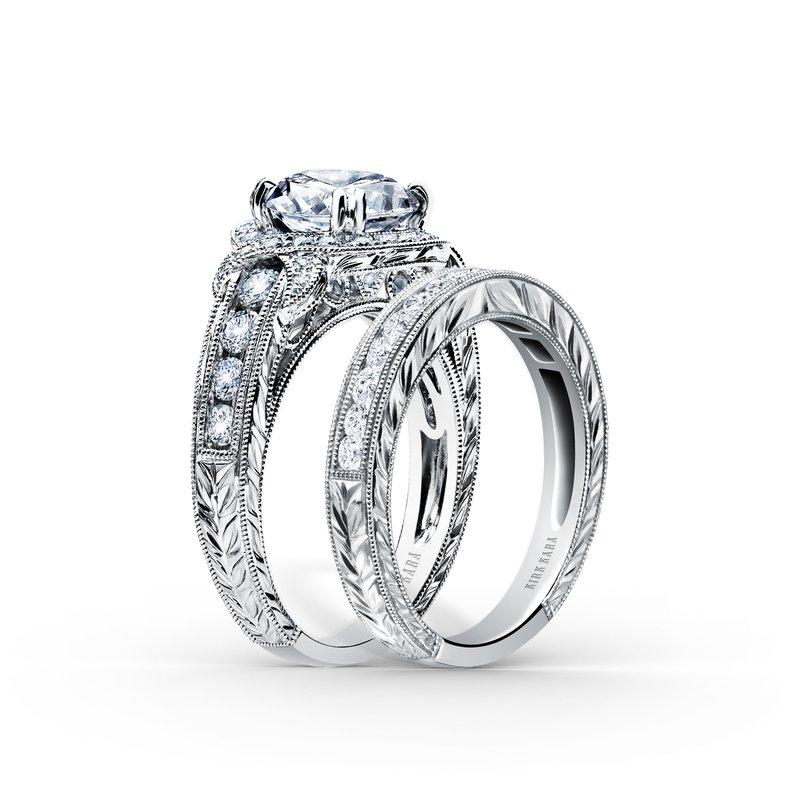 Wrap Halo Diamond Engagement Ring