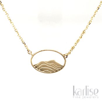 14KY Vermont Mountains Necklace
